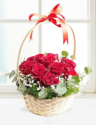 Sepette Kırmızı Güller