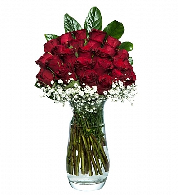 büyülü aşk 25 adet kırmızı gül